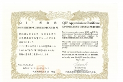 QIFAppreciation Certificate